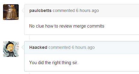 I have no idea how to review a merge commit