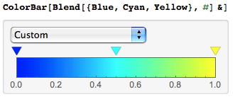 ColorBar usage: custom