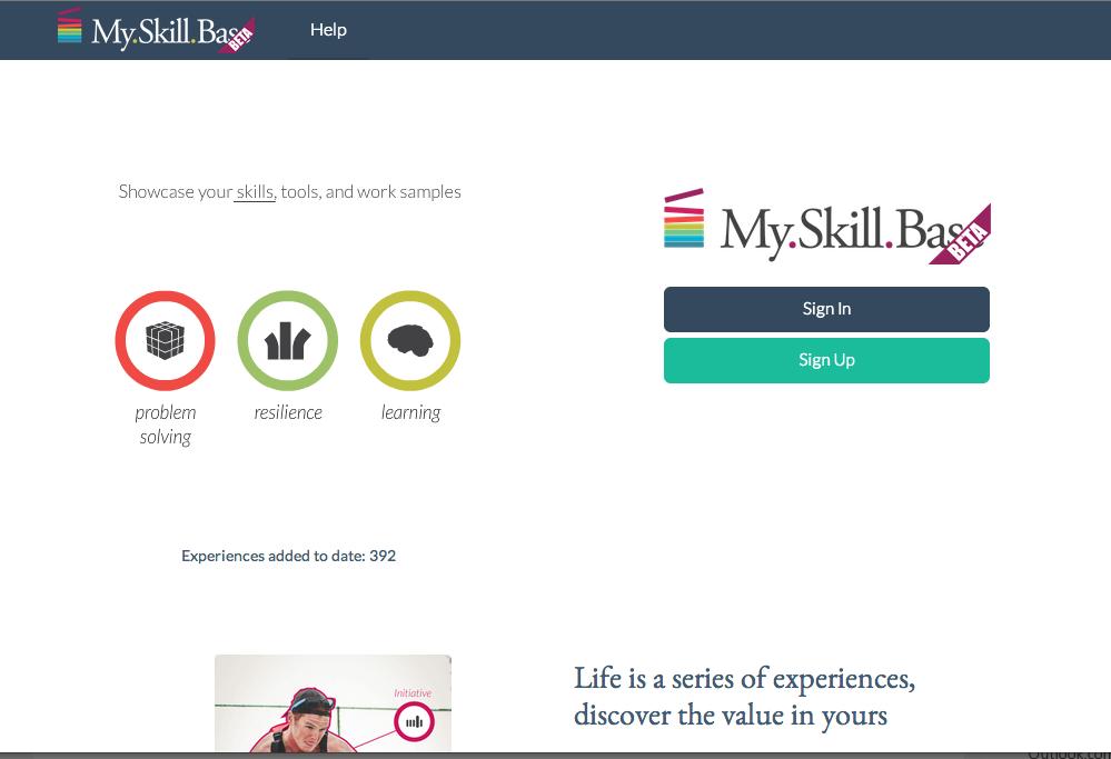 MySkillBase Homepage
