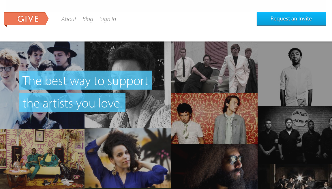 GIVE Homepage