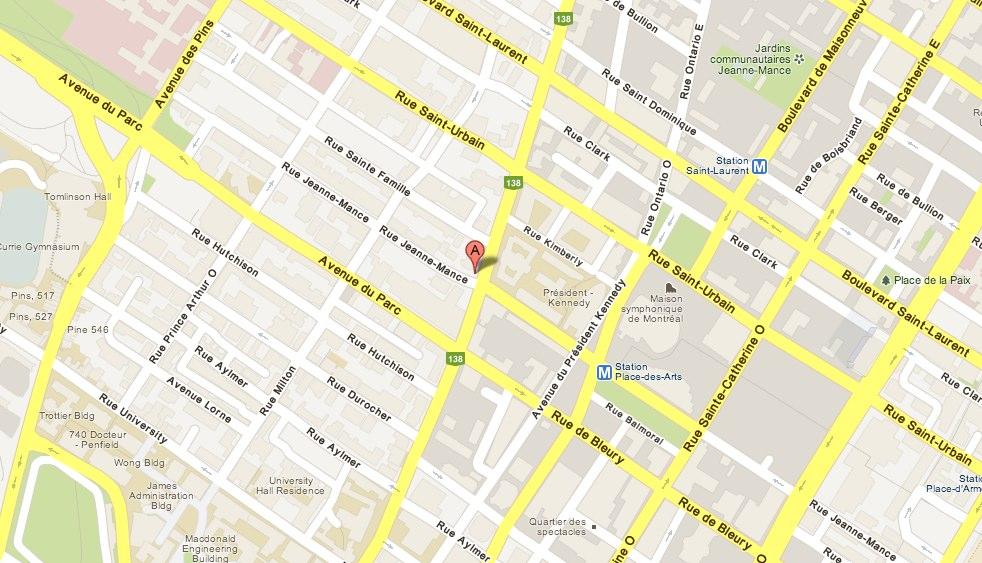 245 Rue Sherbrooke Ouest Montre al Montre al Que bec H2X Canada - Google Maps