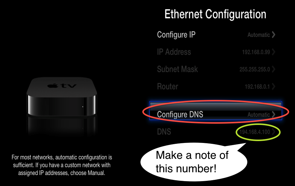 5.2 note current DNS and select configure DNS