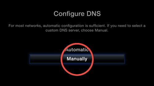 5.2 select to configure DNS manually