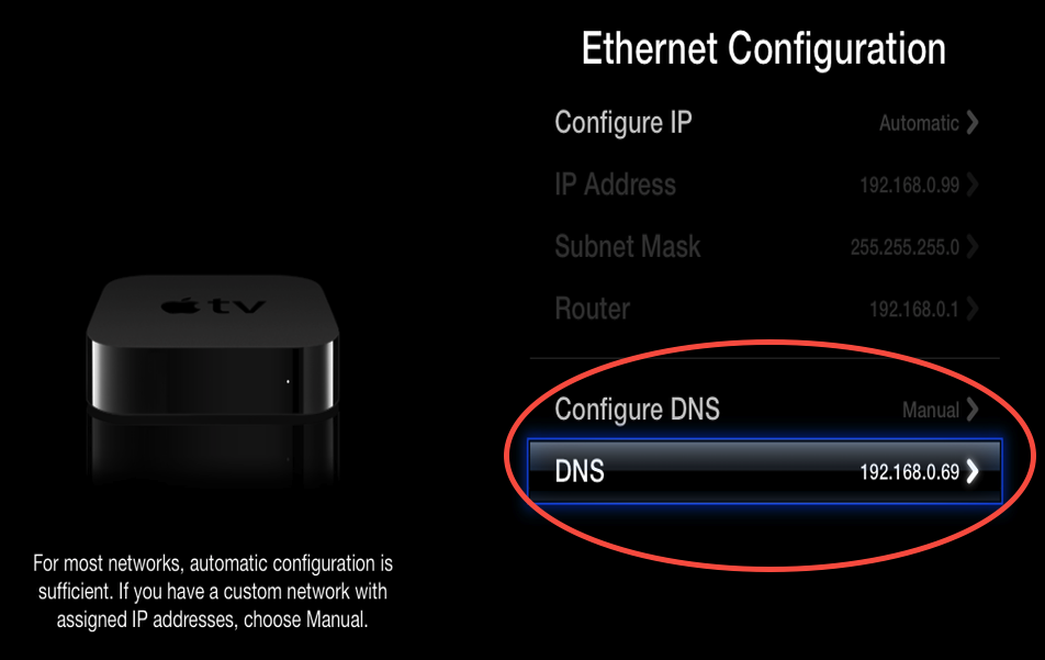 5.2 check DNS server is now pointing at your PlexConnect device