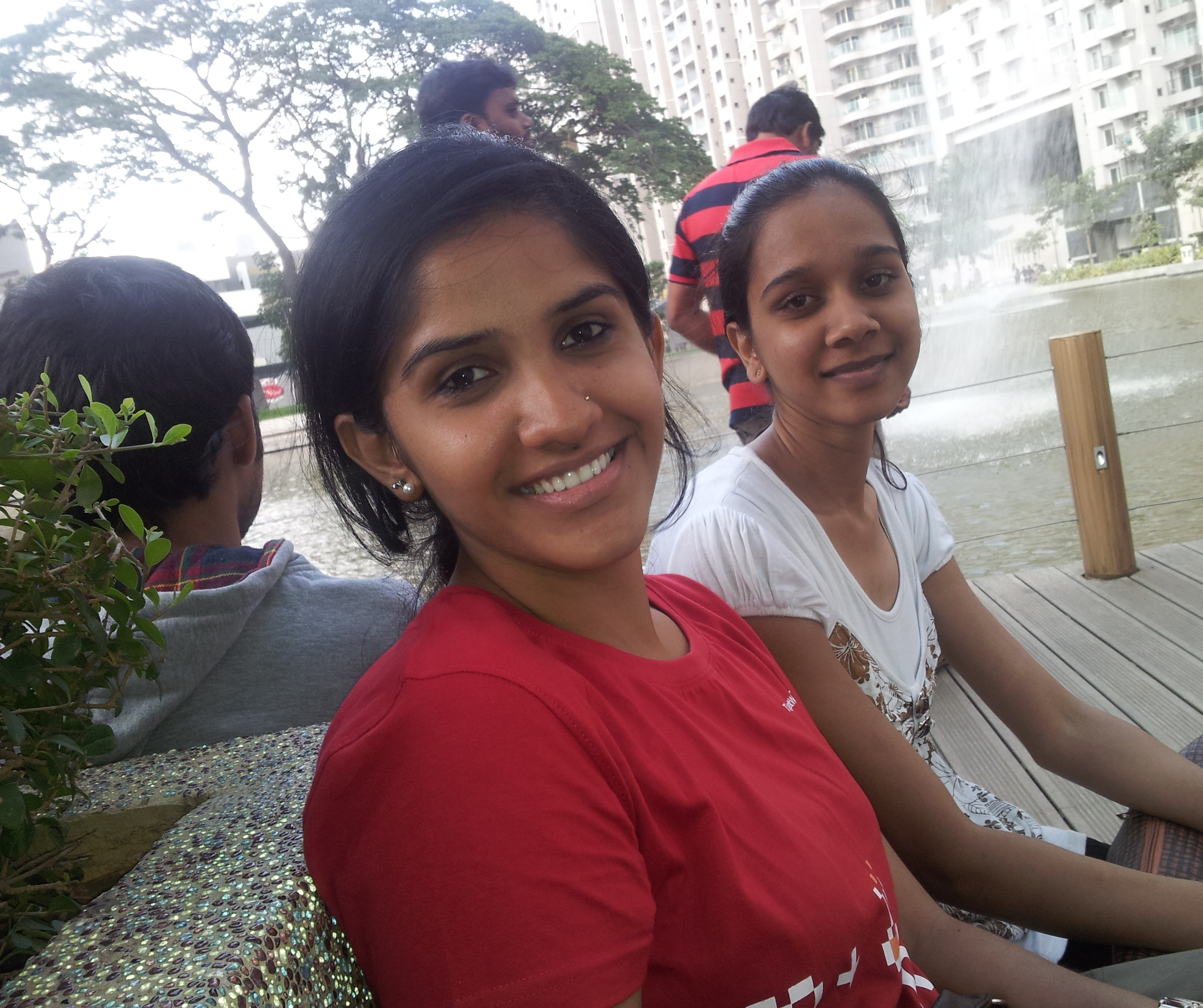 Pallavi and Sakshi together in Bangalore