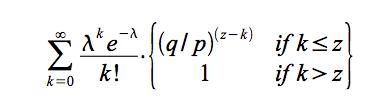 k个块概率符合泊松分布