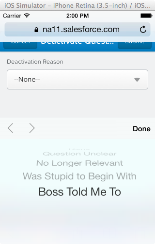 Salesforce1 App