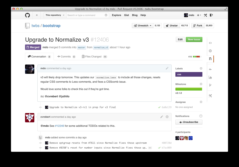 GitHub conversations