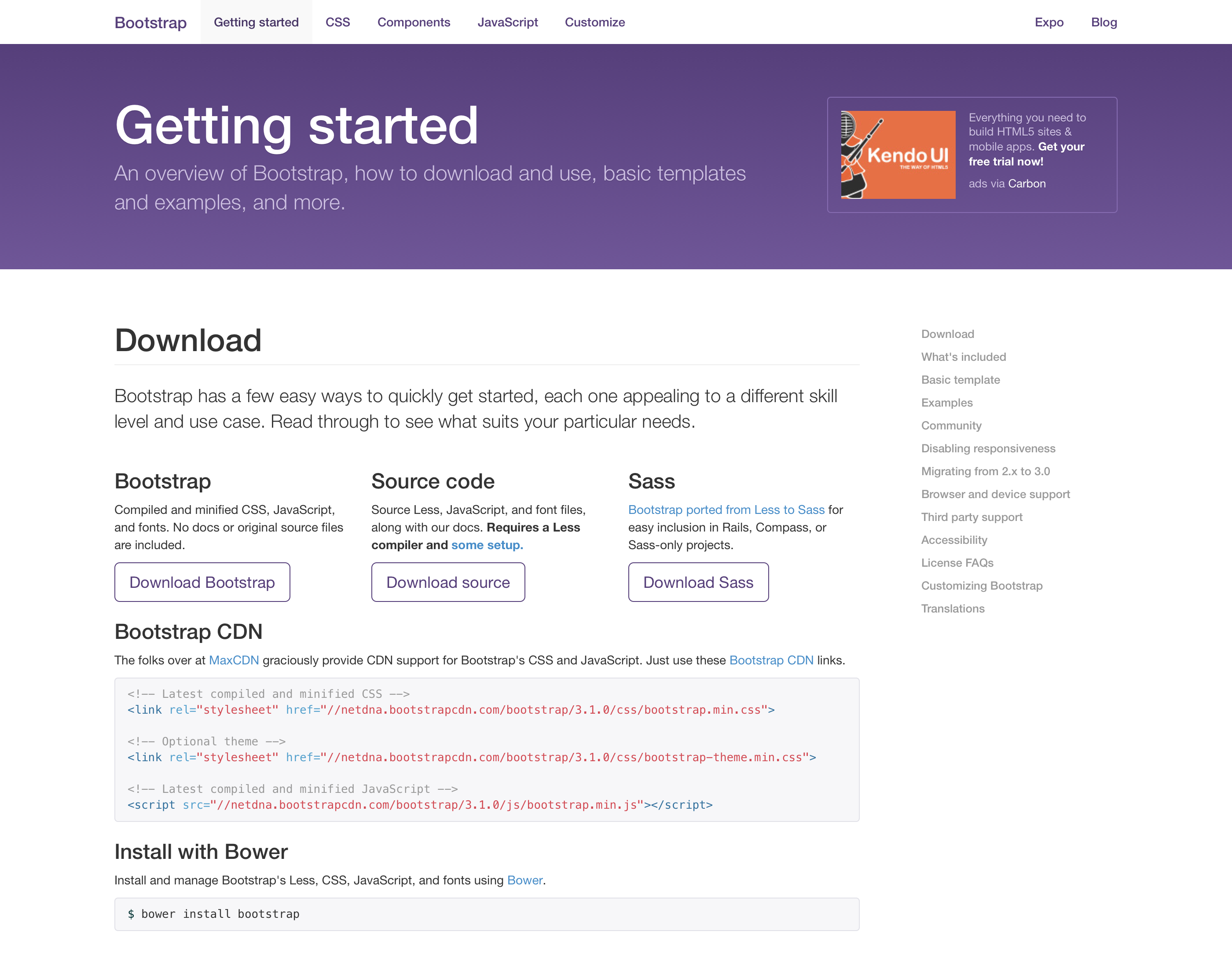 New Bootstrap docs